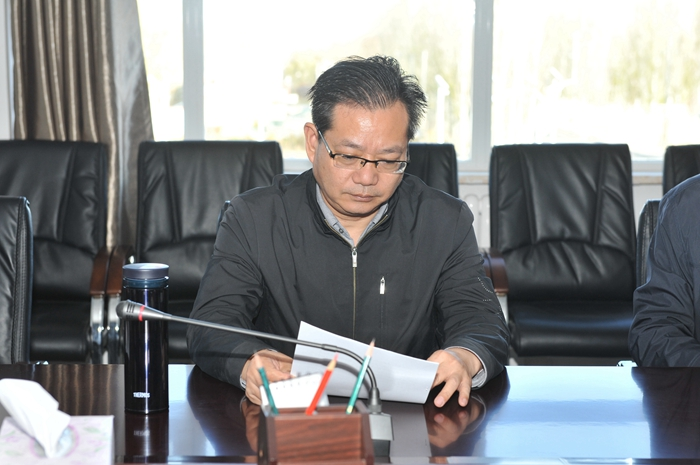 青海省财政厅副厅长王建勋一行来场调研